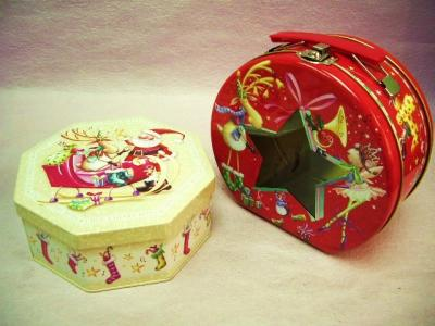 Christmas Tin Box / Chocolate Tin / Biscuit Tin