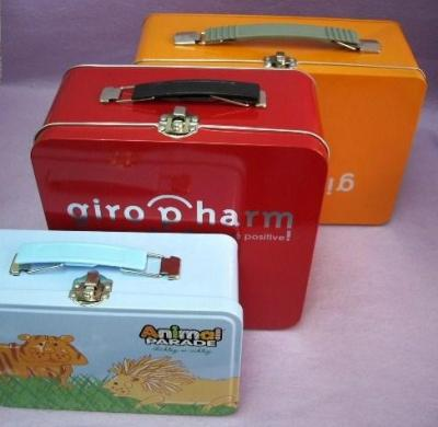 Lunch Tin Box / Rectangular Tin box with handle