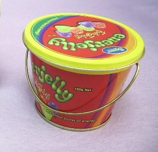 Round Tin Bucket with handle / Tin Pail / Candy Tin Box (Круглые Тина Ковш с ручкой / олово Бачок / Candy Tin Box)