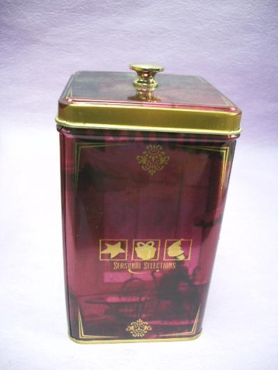Square Tin Box with knob / Tin box (Площадь Tin Box с шишкой / жестянка)