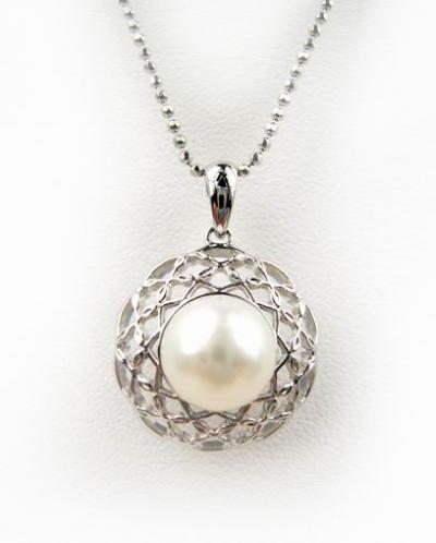 Gold Pendant with Fresh Water Pearl ()