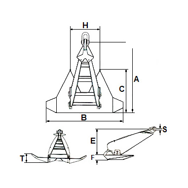Ship anchor-WELD TYPE STOCKLESS ANCHOR,IJINAC01 ()