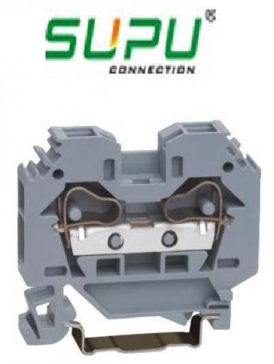 Din rail mouted terminal block din rail cage clamp connector ()