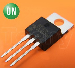 On semiconductor, 2n6403g, thyristor, 400v 10a, 60ma 3-pin, to-220ab