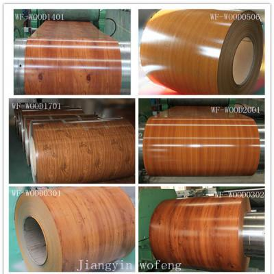 prepainted wooden grain ppgi steel coil (окрашенная деревянная PPGI зерна в рулонах)