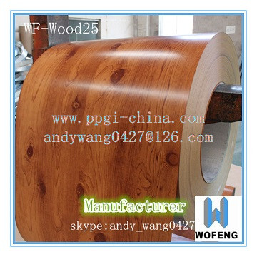 Prepainted wooden color pattern galvanized steel in ppgi rolls (Prepainted деревянный образец цвета из оцинкованной стали в рулонах PPGI)