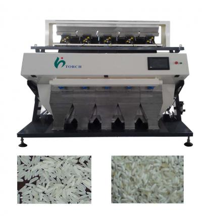 High-End 2048 Pixel LED CCD Rice Color Sorter ()