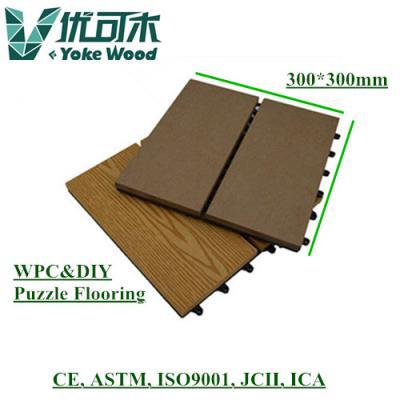 Wood plastic composite puzzle floor (Древесно-пластиковый композит этаж головоломка)