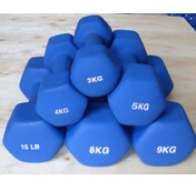 Fixed Weight Hex Neoprene Coated Dumbbell ()
