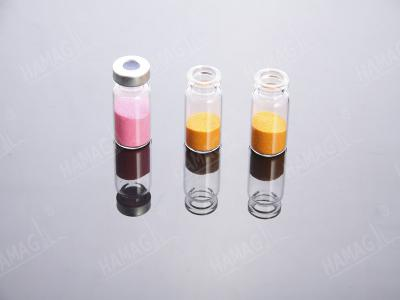 Crimp top autosampler HPLC vials with headspace Caps PTFE and Septa ()