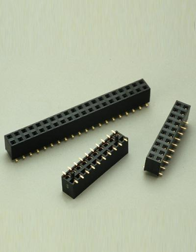 C2816-2.54mm FEMALE HEADER DUAL ROW H=7.1mm SMT (C2816 .54мм FEMALE HEADER DUAL ROW H = 7,1 мм SMT)