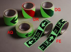 Photoluminescent Fire Exit/Arrow Tape (Photoluminescent Fire Exit / Arrow Tape)