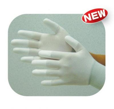 ESD White Nylon PU Top Glove,Electronic Components Manufacturing Equipment (ESD Nylon blanc PU Top Glove, composants électroniques Fabrication de matériel)