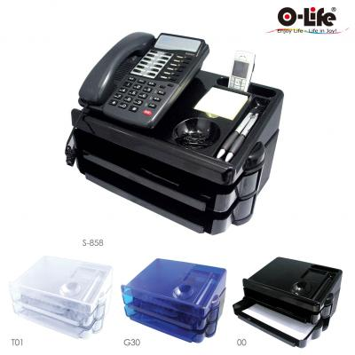 TEL. STAND WITH SLIDING TRAY SET,Office Supplies, Desk Set, Lettery Tray