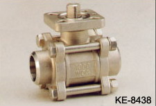 3-PC BALL VALVE, SCREWED ENDS (WITH DIRECT ISO 5211 TOP FLANGE) (3-PC шаровой клапан, резьбовое ENDS (с прямым ISO 5211 ФЛАНЕЦ TOP))
