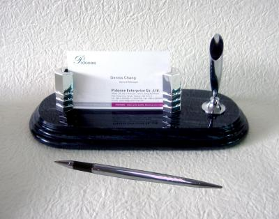 Business Card holder with pen stand desk set (Business Card-Inhaber mit Stifthalter Desk Set)