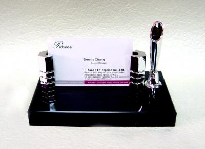 Business Card holder with pen stand desk set