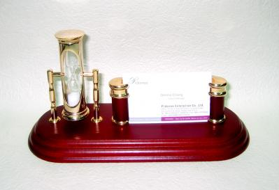 Card-Inhaber und Sanduhr Desk Set (Card-Inhaber und Sanduhr Desk Set)