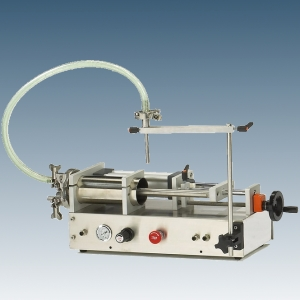 Tabletop Piston Pump Filler, filling machine (Tabletop Piston Pump Filler, machine de remplissage)