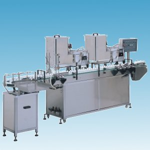 Automatic Counting and Capping  Machine, capper and counter (Comptage automatique et Bouchage Machine, une capsuleuse et la lutte contre)