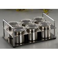 6 Spice Jar & Holder (6 Spice Jar & Holder)
