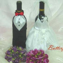 Wine Bottle gown and dress for wedding