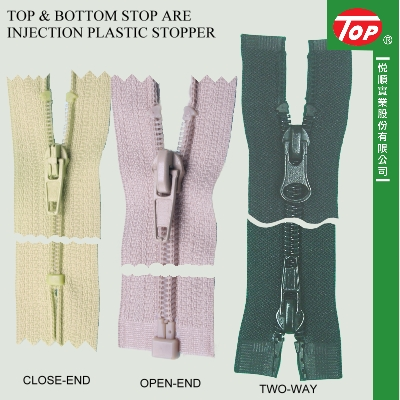 Top & bottom stop are injection plastic stopper