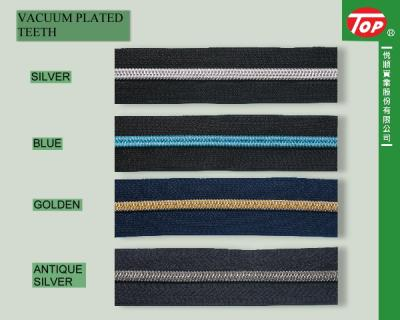 VACUUM PLATED NYLON ZIPPER (ВАКУУМНАЯ PLATED NYLON ZIPPER)