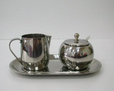 Stainless Steel Milk & Sugar Bowl Set,Creamer & Sugar Bowl, Tableware