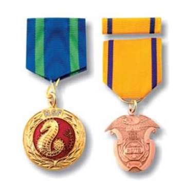 Medals with Ribbon Drape, Designed with Pin Back (Medals with Ribbon Drape, Designed with Pin Back)