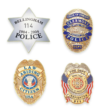 Police Badges, Made of Copper, Bronze and Brass with Various Finishes (Полиция Значки, сделанные из меди, бронзы и латуни с различной отделкой)