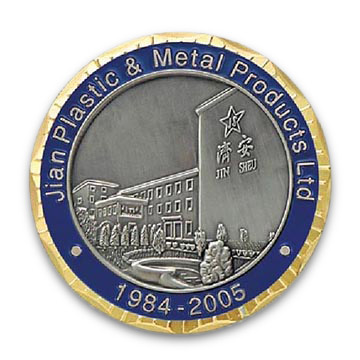 Collectible Memorabilia and Souvenir Coin with Customized Logo