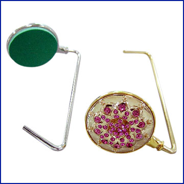 Bag Hanger with Gold and Imitation Rhodium Finish (Bag Hanger avec de l`or et de l`imitation rhodium Finish)