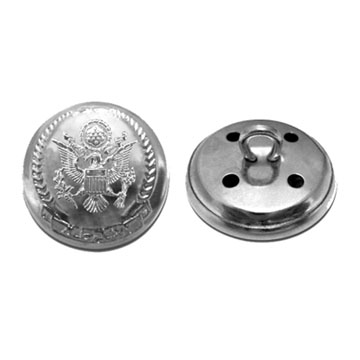 Military Metal Button, Customer`s Designs are Accepted, OEM Orders are Also Welc
