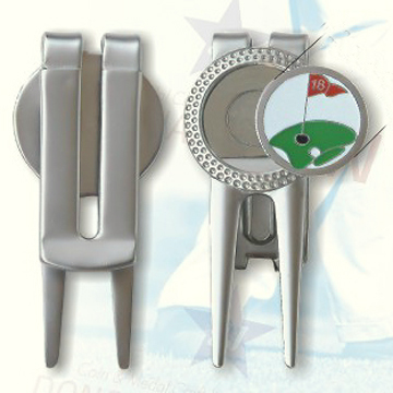 Metal Golf Divot Tool, Available in Various Finishes and Minimum Order Quantity