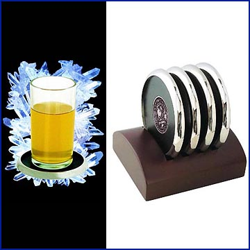 Coasters and Wooden Coaster Holder