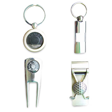 Die-cast Zinc Alloy Key-chains with Soft, Resin and Synthetic Enamel Finish