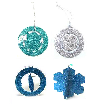 Christmas Tree Decorations, Made of Almost Any Kind of Metal