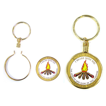 Coin Holder Keychain with Gold Plating (Coin Holder Trousseau avec Gold Plating)