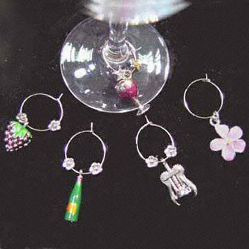 Pewter Wine Charms Made of Tin Alloy and Lead
