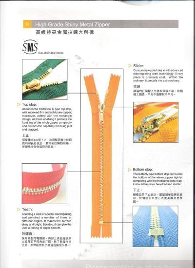 High Grade Shiny Metal Zipper (Высококачественный блестящего металла Zipper)