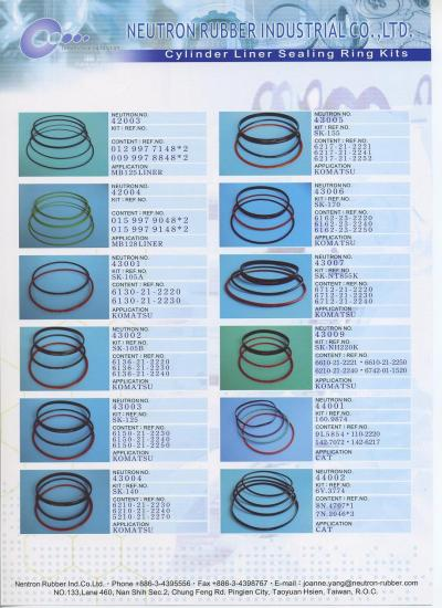 Cylinder Liner Ring Kits for MB, KOMATSU, CAT (Cylinder Liner Ring Kits pour MB, KOMATSU, CAT)