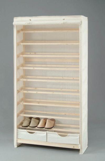 Solid pine 9-tier shoe rack for 36 pairs and 2 drawers (Массив сосны 9 уровне стойки для обуви 36 пар и 2 ящиками)
