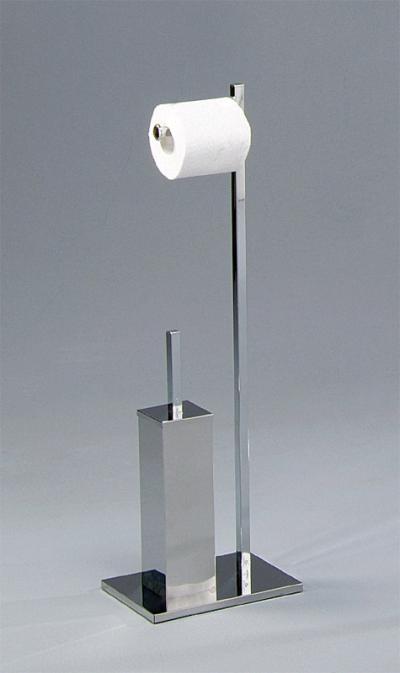 Toilet stand with tissue and toilet brush holder (Туалет стенд с тканью и держателем для туалетной щетки)