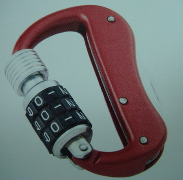 COMBINATION LOCK WITH CARABINER (COMBINATION LOCK mit Karabiner)