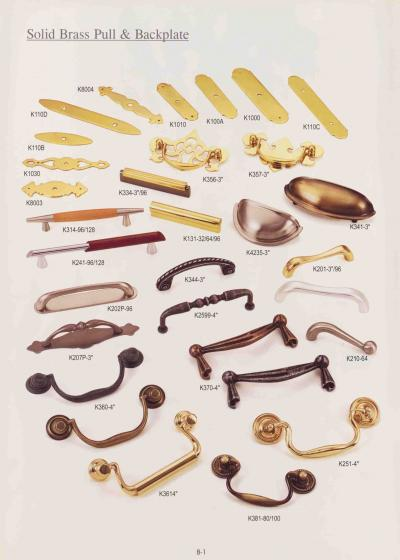 BRASS KNOBS AND PULLS (BRASS BOUTONS ET POIGNEES)