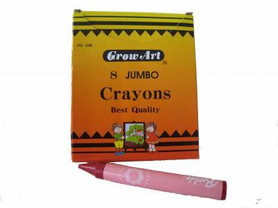 8pcs Jumbo Crayons per box (8St Jumbo Farbstifte pro Karton)