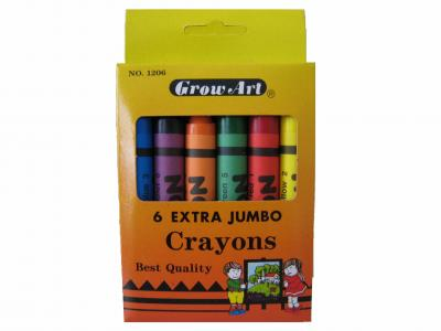 6pcs Extra Jumbo Crayons per box (6x Extra Jumbo Farbstifte pro Karton)