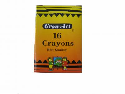 16pcs Regular Crayons per box (16st Regular Crayons pro Karton)
