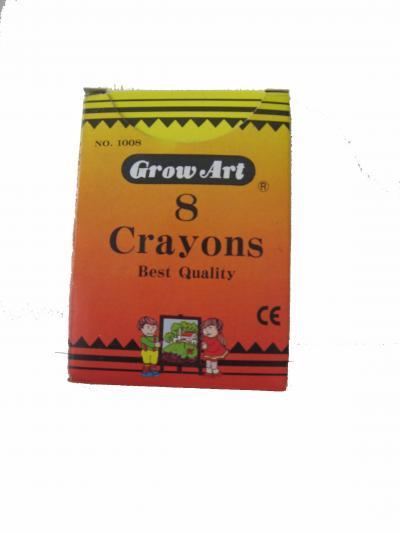 8pcs Regular Crayons per box (8шт Регулярный мелки в коробке)